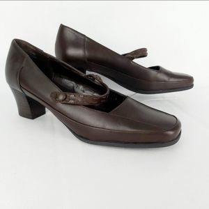 Rockport Mary Jane heeled leather brown shoes